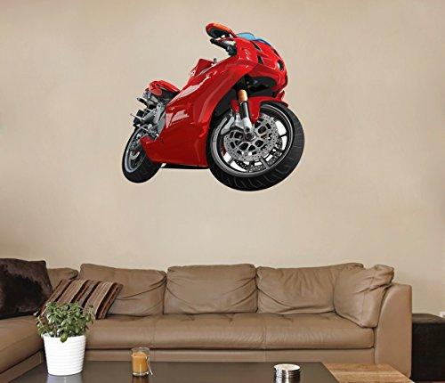 StickersForLife cik61 Full Color Wall Decal Sport Bike Speed Race Living Room Bedroom Room for Teens