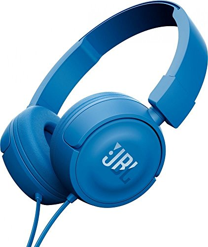 JBL T450 Pure Bass Sound with 1-Button Remote with Microphone On-Ear Headphones Blue