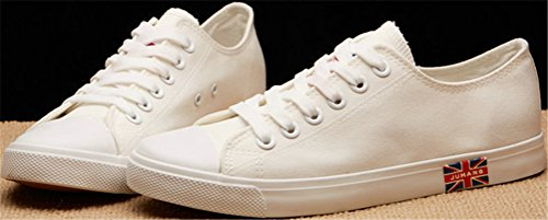SATUKI Canvas Shoes For Men,Flat Fashion Sneakers,Casual Low Top Classic Lace Up Soft Athletic Lightweight Sports Shoes Blue