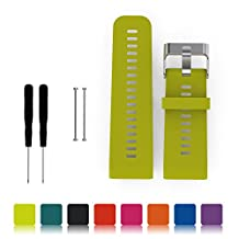 For Garmin Vivoactive HR GPS Smart Watch Replacement Band,Feskio Adjustable Soft Silicone Replacement Wrist Watch Strap with Screwdriver and Lug Adapters for Garmin Vivoactive HR GPS Sport Smart Watch
