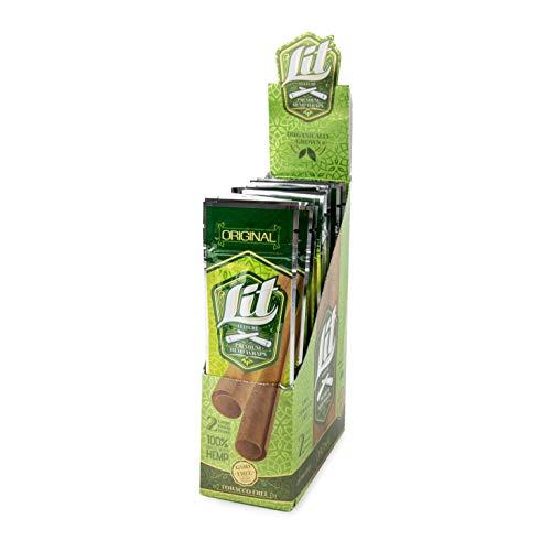 Lit Culture - Premium 100% Hemp Wrap Rolls - 2 Wraps/Pack, 24 Pack Display Box - (Original) ()