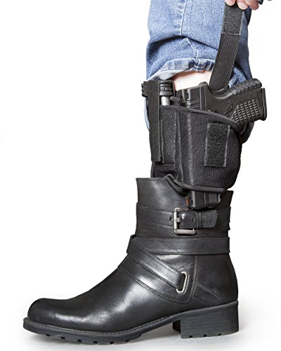Ankle-Gun-Holster-By-Catapult-Strong-Concealed-Carry-Inside-The-Pants-Leg-Pistol-Holster-For-Men-Women-Premium-Quality-Steady-Breathable-Neoprene-Adjustable-Velcro-Strap-One-Size-Fits-All