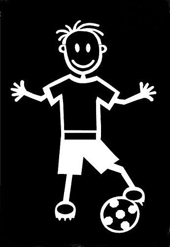 My Stick Figure Family Car Window Vinyl Bumper Sticker Decal Boy Soccer Football B3 ()