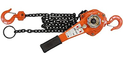 1-1/2 Ton Chain Hoist Chain Come Along Chain Puller 10 Foot Lift