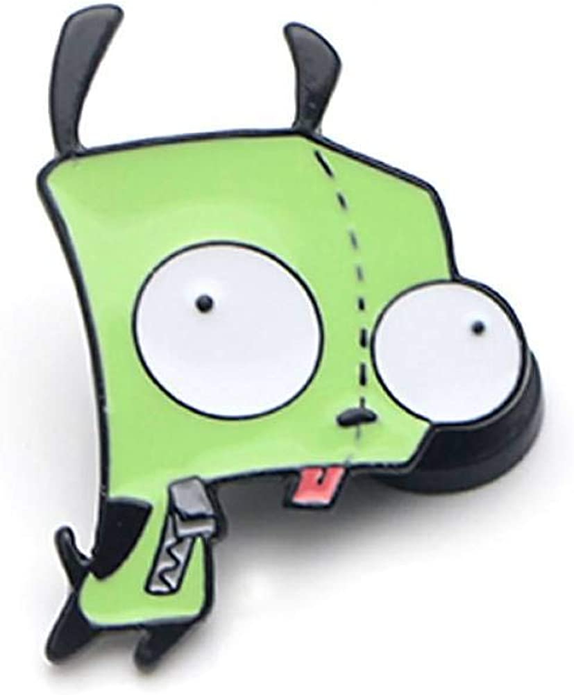 FHKVQOP Funny Invader Alien Metal Brooches and Pins Collection Lapel Pin Backpack Badge Collar Jewelry