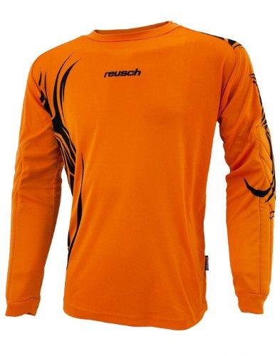 (Reusch Youth Bakaru Longsleeve Goalkeeper Jersey (Large, Orange/Black))