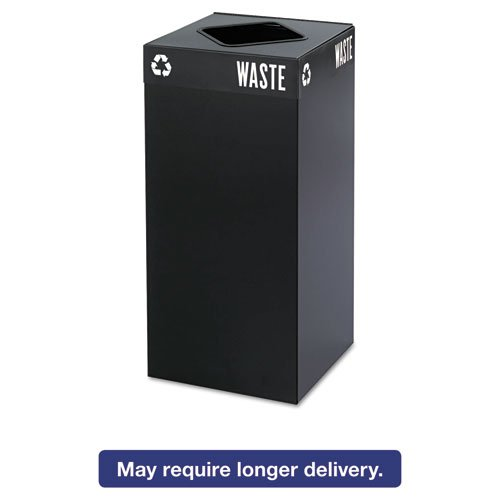 - Safco Public Square Recycling Station -Recycling Receptacle, 15-1/4