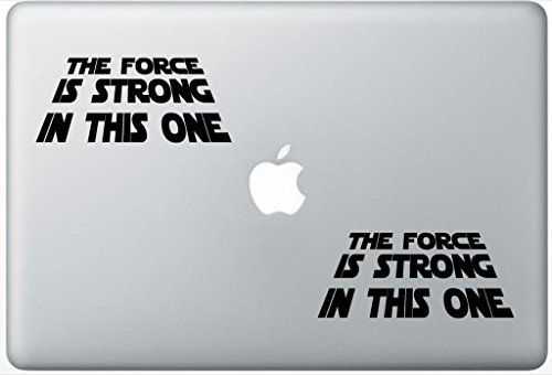 The Force Is Strong In This One Star Wars Inspired ArcDecals78601237 Set Of Two (2x) , Decal , Sticker , Laptop , Ipad , Car , Truck (Force Skin Vinyl)