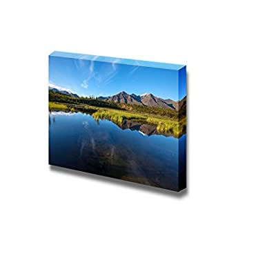 Serenity Lake in Tundra on Alaska Home Deoration Wall Decor 24