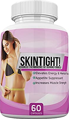SkinTight! - Advanced Thermogenic Fat Burning Formula - Elevates Energy and Mental Focus - Appetite Suppressant - Increase Muscle Strength