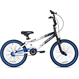 *KENT Bundle – 20″ Boys', Ambush BMX Bike, Blue with Multi-Sport Helmet and Protective Pad Set, Black, Ages 8-14