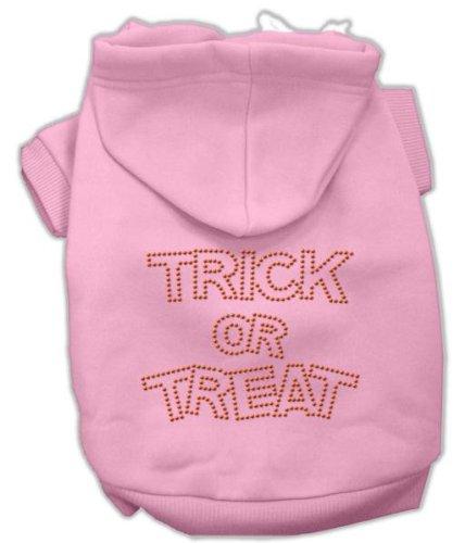 Mirage Pet Products Trick or Treat Rhinestone Hoodies Pink L (14)
