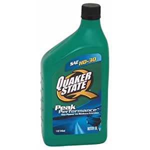 Quaker state 550024137 12pk sae 30 hd motor for What is hd 30 motor oil