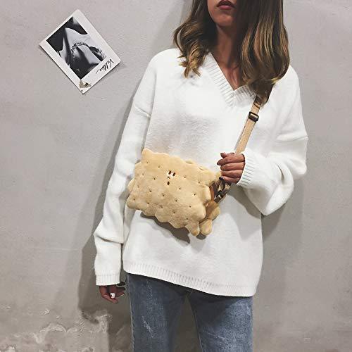 Handbags Bag Small FEIDA Zipper Women Shoulder Crossbody Khaki Shape Sponge Messenger Soft Lovely CzfBqdz
