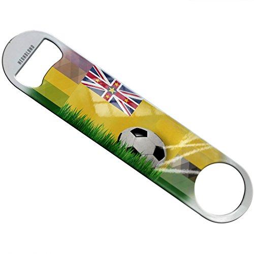 NEONBLOND Soccer Team Flag Niue Flat Beer Bottle Opener Heavy Duty Bartender by NEONBLOND