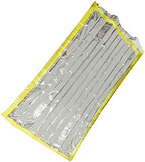MTSZZF Sac de Couchage en Aluminium argenté réutilisable de Camping de Survie de Feuille de Survie imperméable 210cm * 90cm