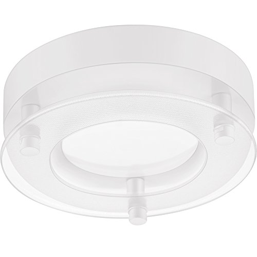 GetInLight Dimmable Surface Mount LED Ceiling Light, 5.5-Inch, 12W(60W Equivalent), 660lm, 3000K(Soft White), Matte White Finished, ETL Listed, Wet Location Rated, IN-0315-1-WH-30