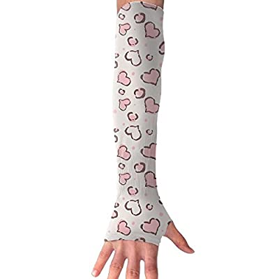 Pink First Love Unisex Half Finger Arm Sleeves Cover Glove Flexible Sunproof Cuffs Cycling