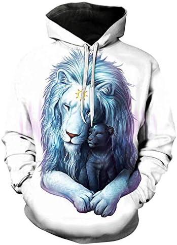 Sweatshirts Tops T-Shirts Kapuzenpullover Galaxy Space Hoodies Für Frauen Männer Streetwear Markenkleidung Kapuzenpullover 3D Print Hoody lässige Pullover^ Picture_Color_XL