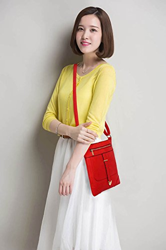 1 Design With Cross Body Front Shoulder Crossbody Bags Ladies Zip New Womens Luxury Red Messenger Designer OHq4nw6