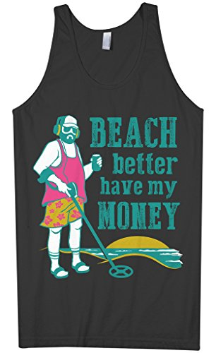 Threadrock Men's Beach Better Have My Money Tank Top L Black