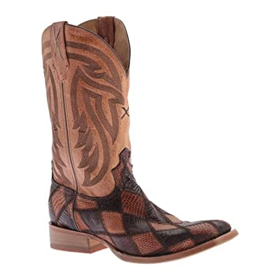 Twisted X Men's Peanut Caiman Rancher Cowboy Boot Square Toe - Mral012
