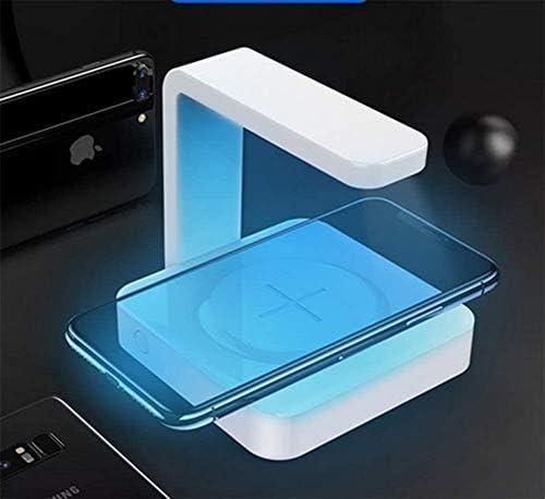 Portable Smartphone Sanitizer e Caricatore Universale Wireless Cleaner Phone con Ricarica USB per Il Telefono Mobile del Android,Bianca