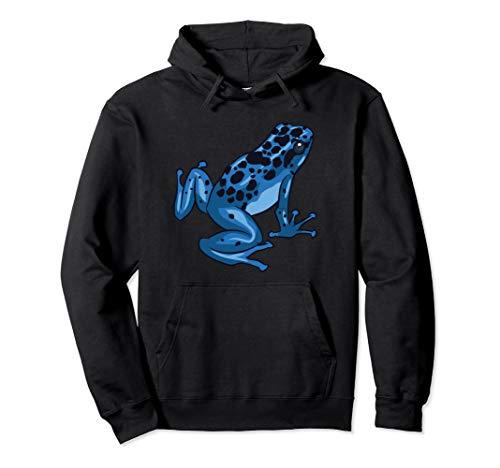 Poison Dart Frog Blue | Gift Breeder | Dendrobatidae Pullover Hoodie ()