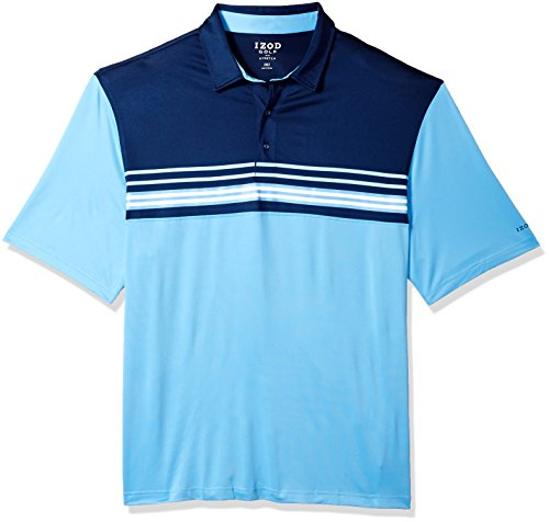 Colorblock Golf Polo - IZOD Men's Big and Tall Golf Short Sleeve Colorblock Polo, Little boy Blue, X-Large