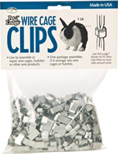 Miller Manufacturing ACC1 Wire Cage Clips, 1-Pound Bag ()