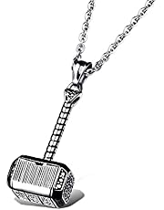 Hammer men's titanium steel necklace