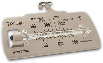 Taylor Commercial OVEN GUIDE Thermometer Stainless Steel 100-600 deg 5921N New!!