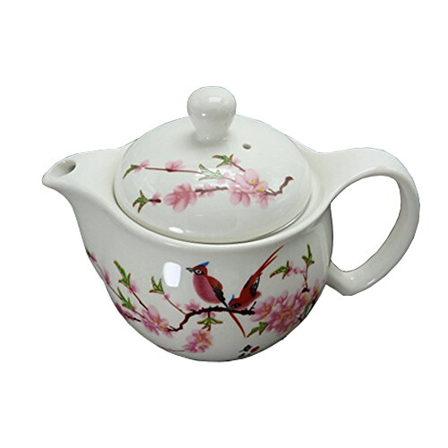 Peach Blossom Stylish Ceramic Teapot With Tea Infuser Tea Ke