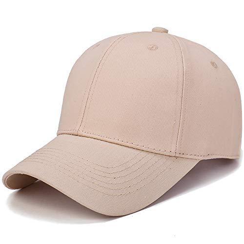 Quaanti Hat Cotton Light Board Solid Color Baseball Cap Men Cap Outdoor Sun Hat  (Khaki) - High Quality Headcovers
