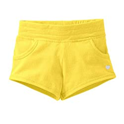 Carter's Girls Knit Pull-On Shorts (6X, Yellow)