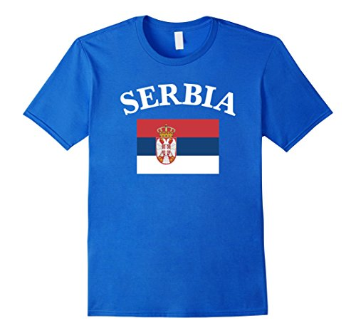 Mens Serbia Serbian Flag Soccer and General Sports T-Shir...