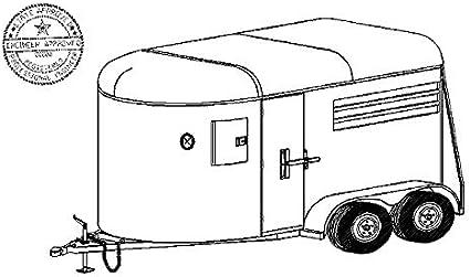 PLANS 2 two Horses Border Horse Trailer Truck DIY blueprints only PLANS