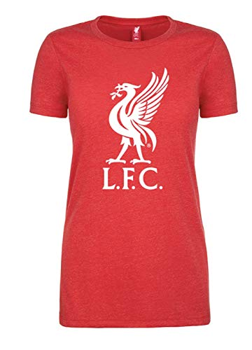 (Anfield Shop Liverpool FC Womens Red T-Shirt with Liverbird (red, XL) )