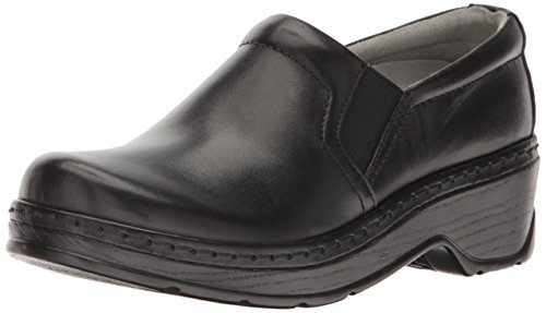 Klogs USA Women's Naples Clog,Black Smooth,7.5 W - Black Clog Smooth
