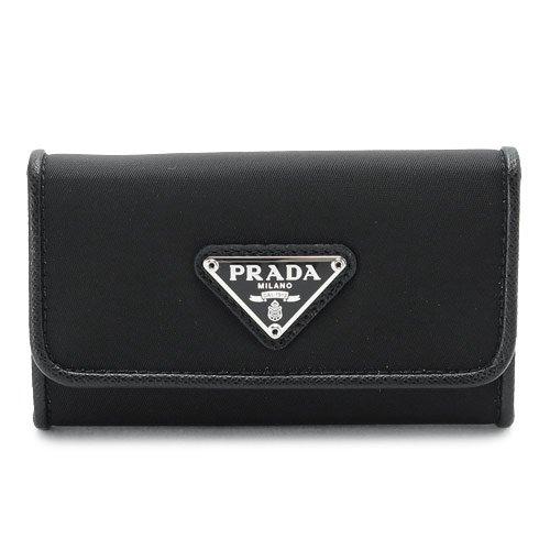 (プラダ) PRADA キーケース 1PG222 074 F0002/TESSUTO NERO テスート ナイロン ロゴプレート ブラック [並行輸入品]   B0154FHJEU