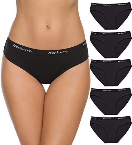 Wealurre Womens Underwear Cotton Bikini Breathable Sport Low Rise Panty for Women Multipack