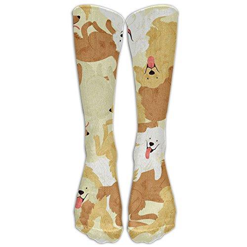Cute Golden Retriever Dog Crew Socks Hiking Running Socks For - Meadows Fit Park