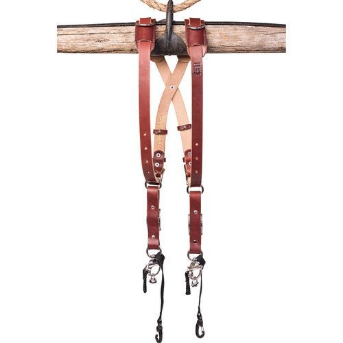 HoldFast Gear Money Maker Bridle Skinny 2 Camera Harness (Chestnut, Small) by HoldFast