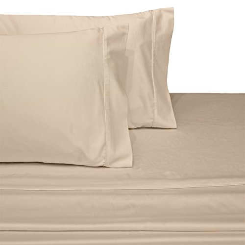 Deluxe and Super Soft Brushed Microfiber Attached Waterbed Sheet Set with Pole Attachment, 3 Piece Super Single Size, Linen