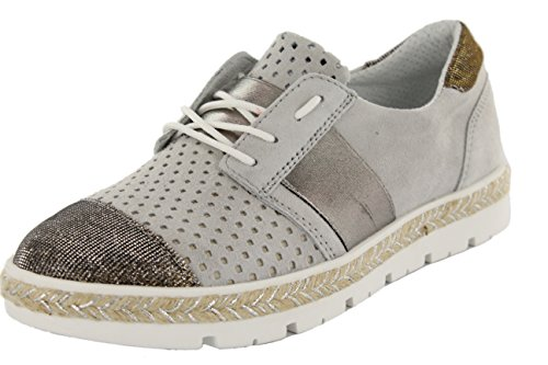Inconnu New Italia Shoes, Basses Femme Gris