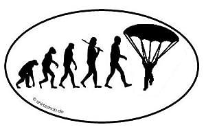 FALLSCHIRM FALLSCHIRMSPRINGER EVOLUTION serie 1.0 Aufkleber Autoaufkleber...