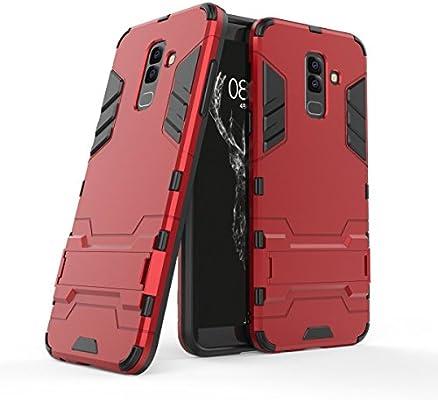 OFUPara Samsung Galaxy J4 2018 Smartphone, Híbrido Caja de la Armadura para el teléfono Samsung Galaxy J4 2018 Esenciales del teléfono,para Samsung Galaxy J4 2018 Rojo: Amazon.es: Electrónica