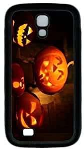 Cool Painting halloween pumpkin 4 PC Silicone Case Cover for Samsung Galaxy S4/I9500