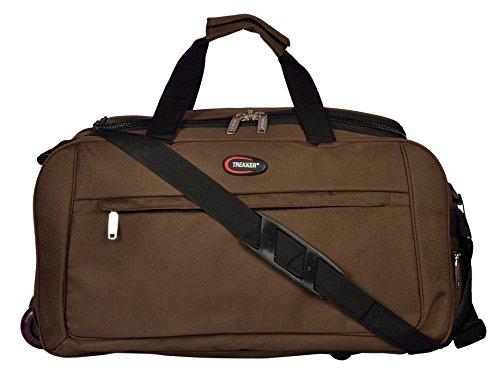 TREKKER Polyester 34 cm Brown Soft Sided Travel Duffle  DWINOVA BR24