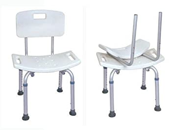 medmobile aluminum bathroom bathtub shower chair with back support